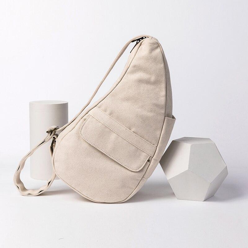 حقيبة صدر نسائية قماشية ، حقيبة كتف نسائية عصرية ، حقيبة يد يابانية كبيرة السعة