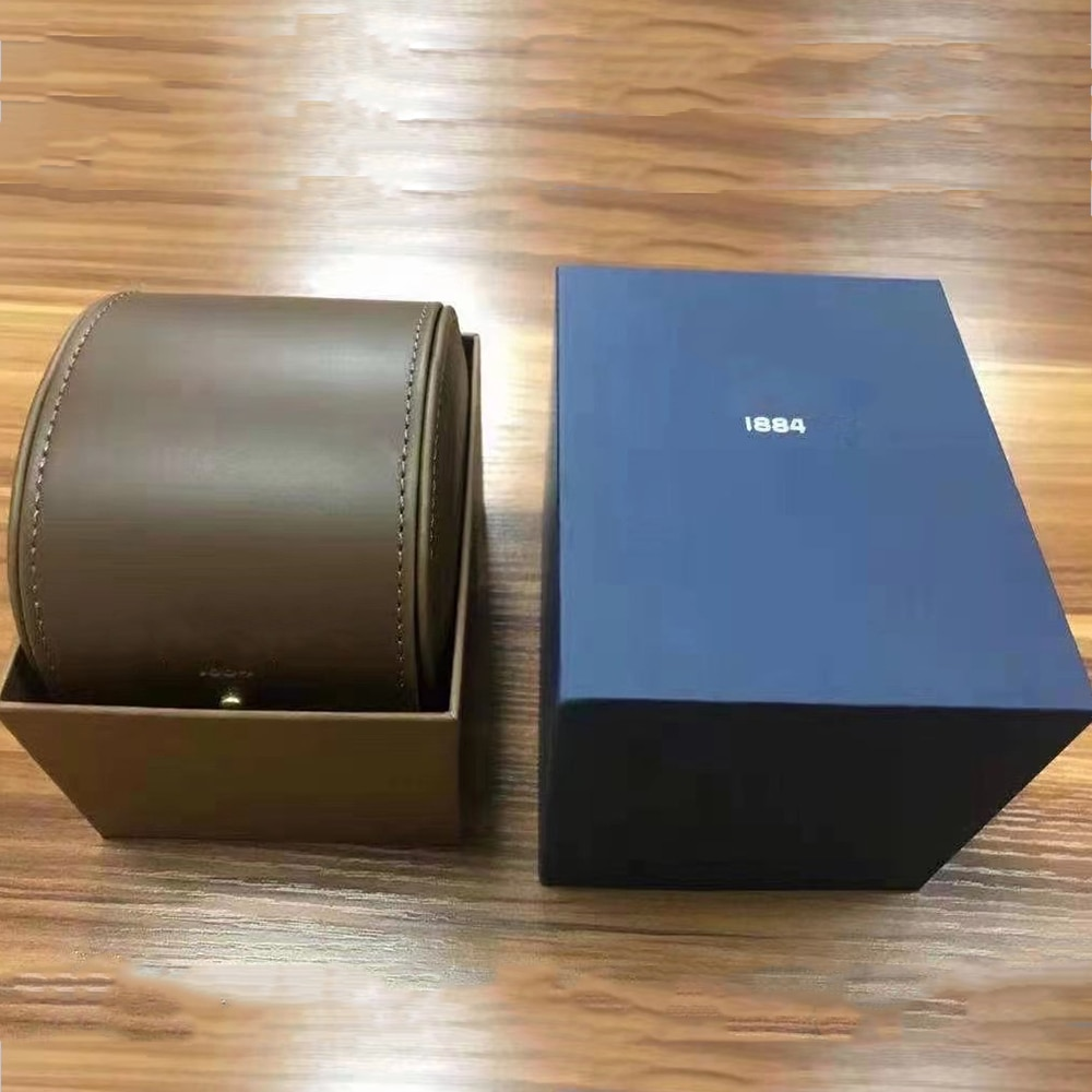 Classic High Quality 1884 Watches Boxes Fashion Watch Original Box Papers Wood Leather Handbag For Superavenger Superocean Watch enlarge