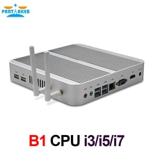 Mini ordinateur de bureau sans ventilateur B1 avec Intel i3 4005U/5005U/i5 4200U/5200U/i7 4500U Port HD VGA 4USB 3.0 Win 10