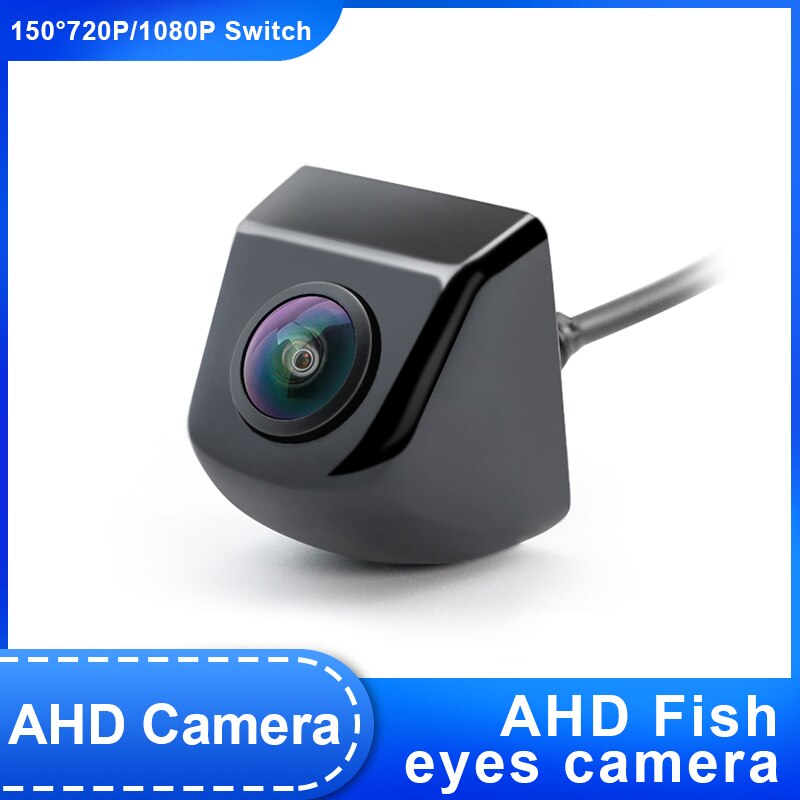 HD 1920*1080P visión nocturna reversa lente de ojo de pez del vehículo 1080P * 720P cámara de visión trasera AHD para Android DVD, Monitor AHD