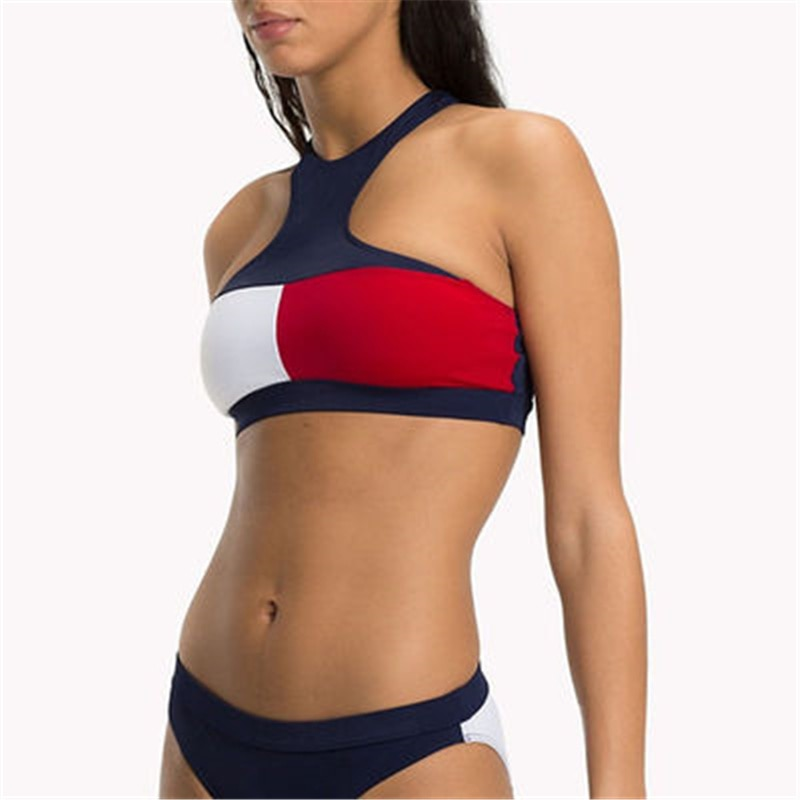 bikini de cintura alta 2020 traje de baño sexy para mujer traje de baño de pierna alta conjunto de bikinis con aumento ropa Traje de bikini de encaje femenino, traje de baño brasileño mejorado, traje de playa de dos piezas, novedad 2021