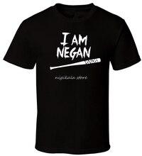 I AM Negan - Black T-shirt Walking Dead Bat AMC All sizes S-3XL male teeshirt summer top tees man brand tee-shirt