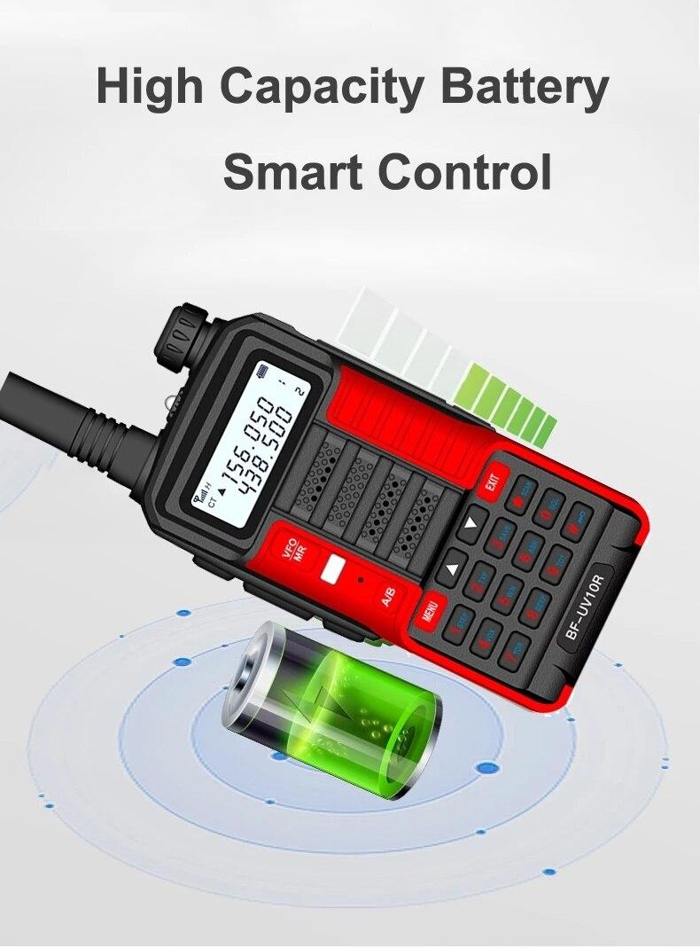 BaoFeng Walkie Talkie UV-10R Two Way CB Radio Transmitter Long Range Baofeng UV10R 128CH VHF UHF 136-174Mhz 400-520Mhz Dual Band enlarge