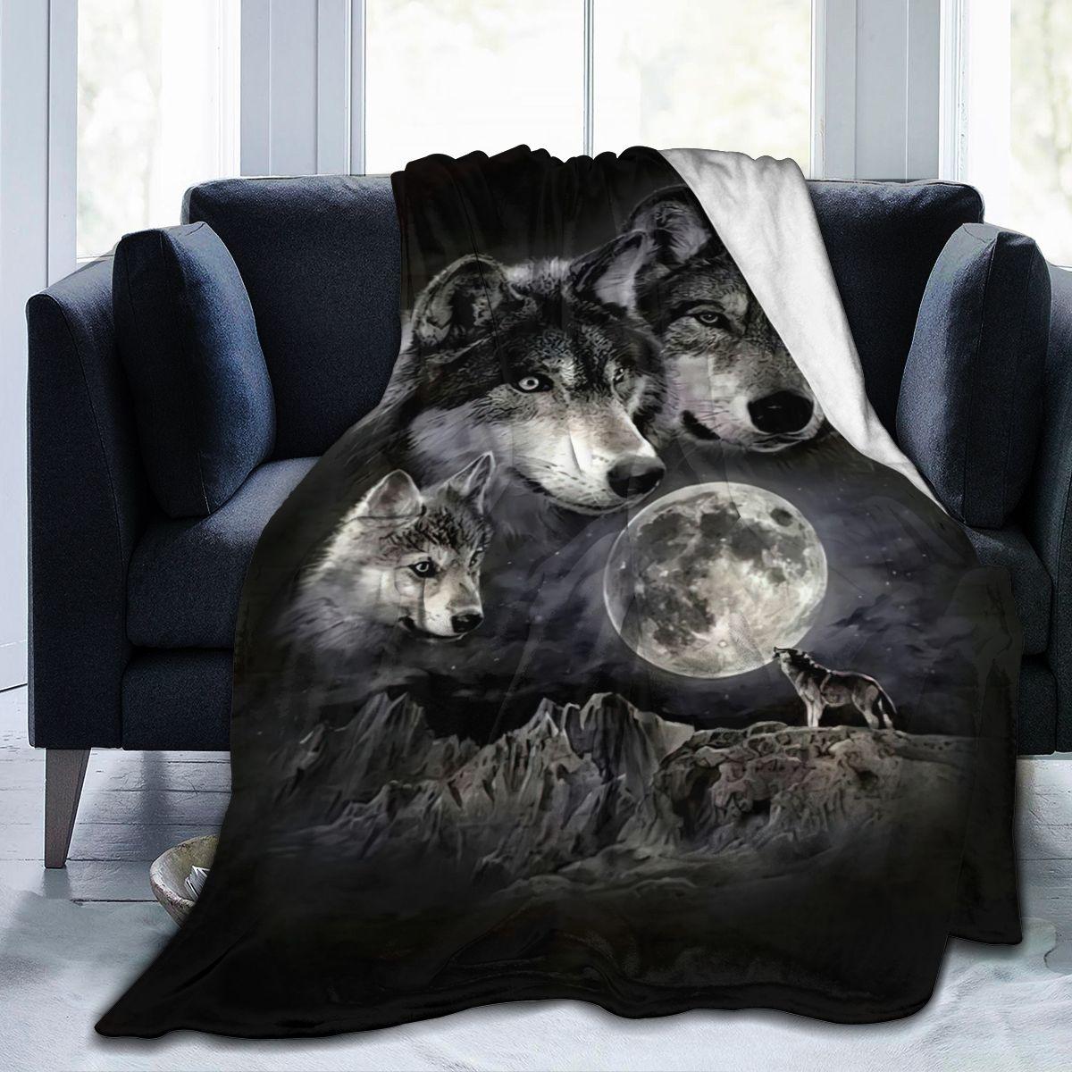جميل الذئب الكرتون بطانية ناعمة جدا التسامي الكرتون غطاء بطانية الفراش الفانيلا للأطفال و Adults0