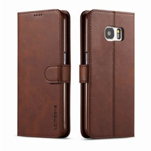 For Samsung Galaxy S7 Case Flip Magnetic Phone Case On Samsung S7 Edge Case Leather Vintage Wallet C