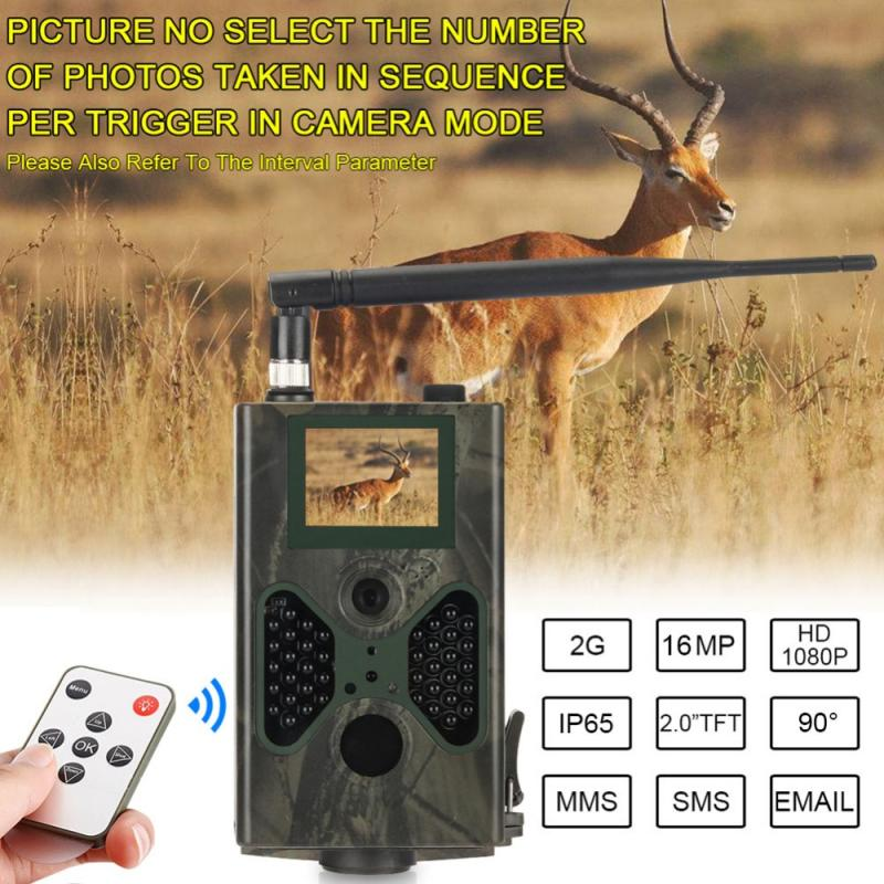 HD Hunting Trail Camera 940NM Video Cameras Gprs Trail Qildlife Camera 12MP GPRS MMS EMAIL 1080P HD Wild Camera недорого