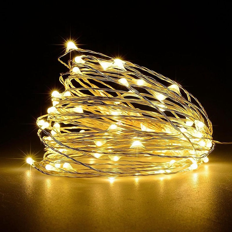 fairy lights usb 5m 10m silver led copper wire string light christmas holiday lights wedding patio decorations garden lighting 5M 10M USB powered  holiday string light LED Copper Wire Fairy Xmas Wedding Festival String Lights Waterproof decoration light