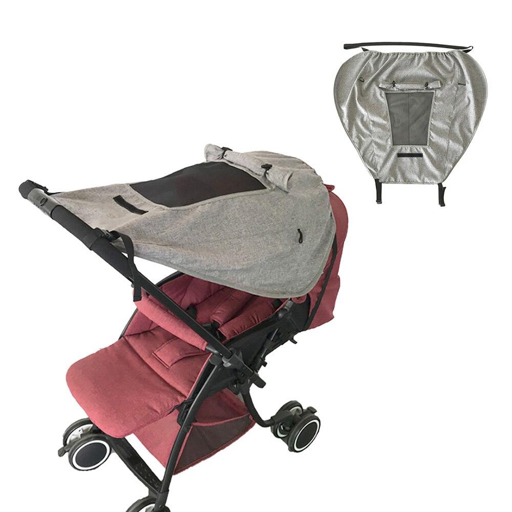 Accesorios de cochecito de bebé toldo de protección solar, carrito de cuna, piezas de cochecito, toldo con bolsa de tela de transporte, pieza de cochecito infantil