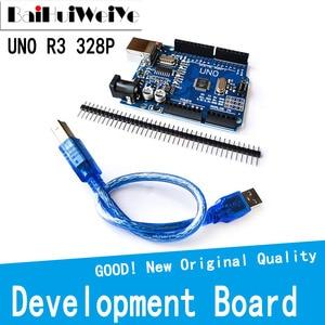 1 компл. UNO R3 UNO R3 (CH340G) MEGA328P для Arduino UNO R3 + USB-кабель ATMEGA328P-AU DIY плата высокого качества