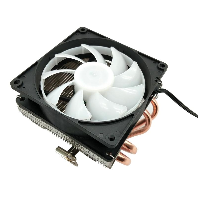 Enfriador de CPU DELEFUN, 4 tubos de calor de cobre puro, sistema de refrigeración de Torres, ventilador de CPU, radiador de CPU para AMD