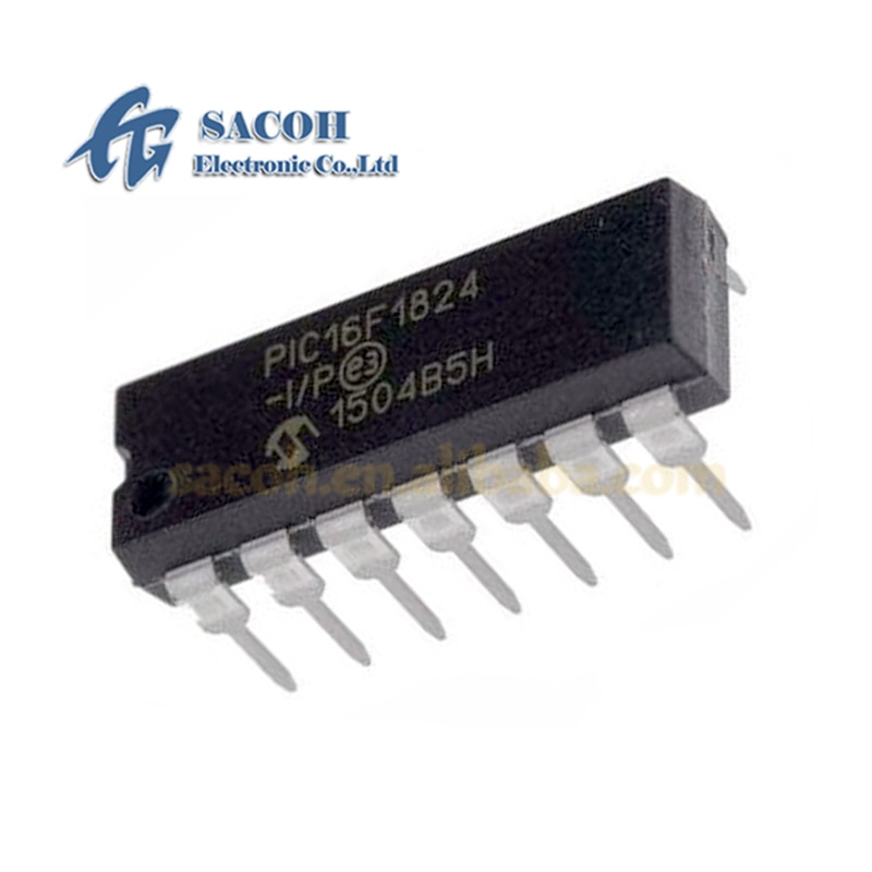 5 pçs/lote nova originai PIC16F1824-I/p ou PIC16F1824-E/p ou pic16f1824 dip-14 pinos flash microcontroladores