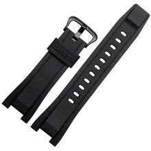 Rubber watchband for Casio G SHOCK GST Series GST-210/W300/400G/B100 Waterproof Silicone watch band men straps Accessories 26*14