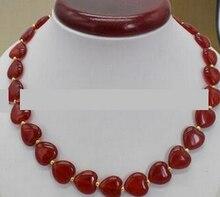 "18"" 12x12mm Blue Brazilian Aquamarine Gems Heart Shape Beads Necklace AAA"