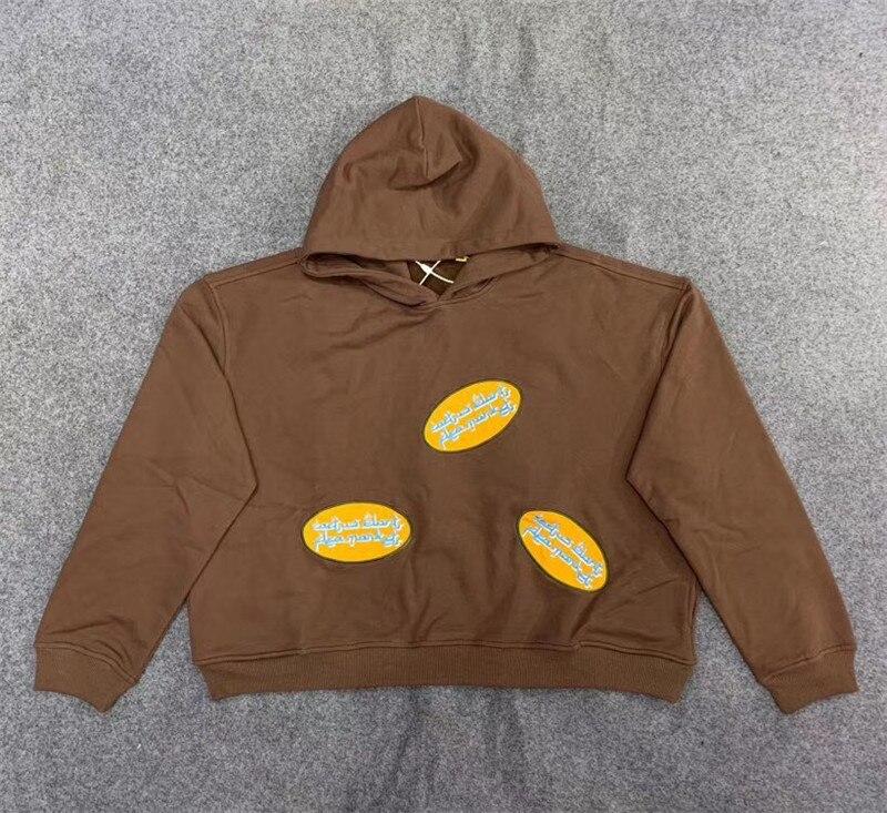 ¡Novedad! Sudaderas con capucha de alta calidad CPFM.XYZ con logotipo árabe marrón CPFM.XYZ
