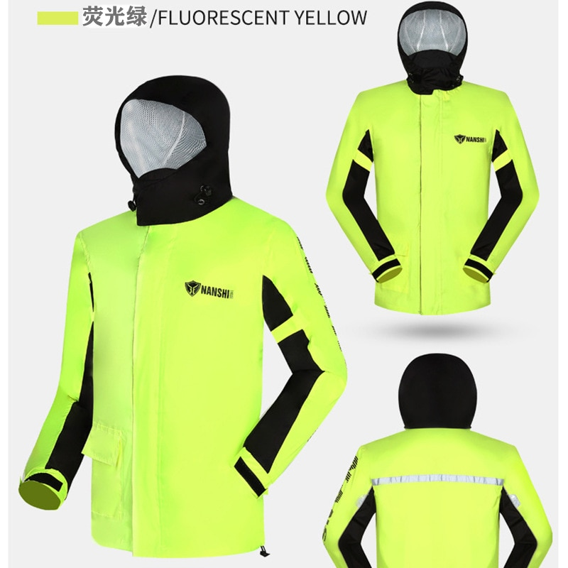 Unisex Men Outdoor Raincoat Motorcycle Suit Adult Reusable Raincoat Polyester Portable Antipioggia Household Merchandises AG50YY enlarge