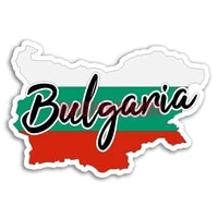 car stickers vinyl motorcycle decal car window body decorative decoration laptop for bulgaria flag map travel