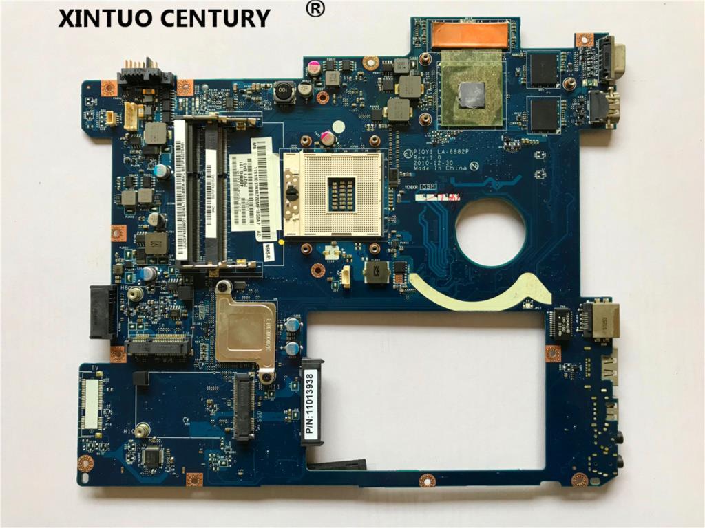 لينوفو Y570 اللوحة الأم الكمبيوتر المحمول PIQY1 LA-6882P اللوحة الرئيسية HM65 DDR3 GT555M GPU اختبار كامل