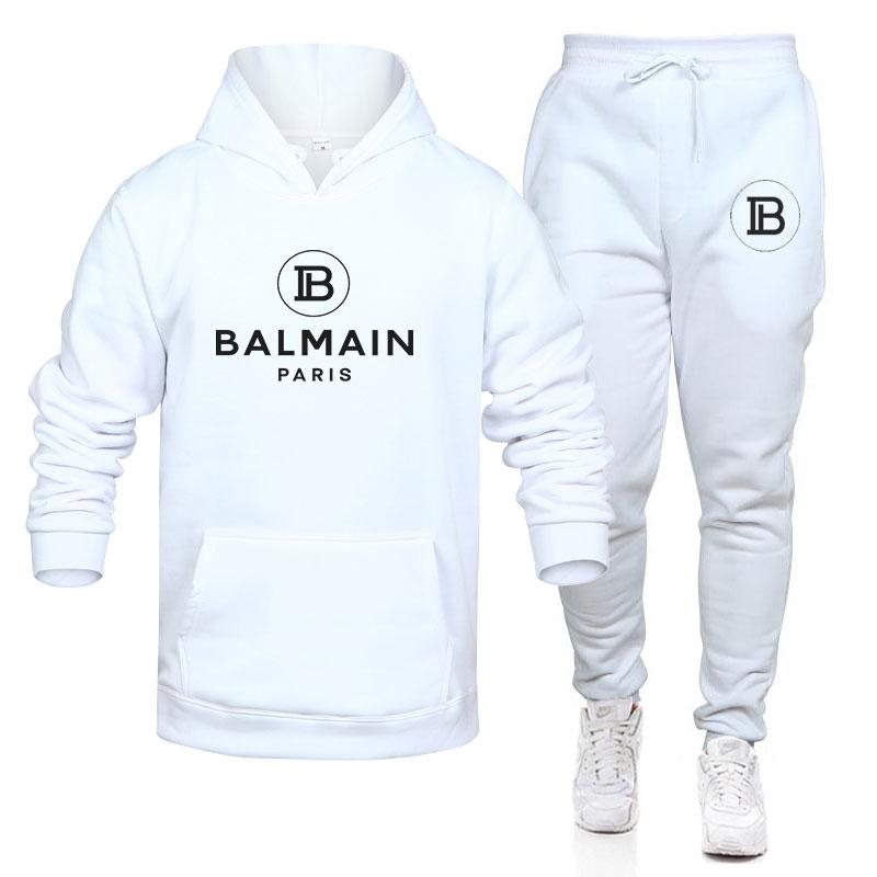 Костюм спортивный мужской с принтом, хлопок, толстовка, штаны, Повседневная рубашка, одежда на осень, 2021