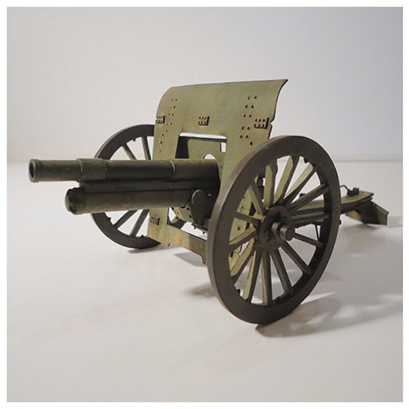 1:25 פולני Polowa 75mm הוביצר 3D נייר דגם תותחנים דגם שלושה קילו אקדח ידני DIY טנק רכב דגם צעצועים לילדים