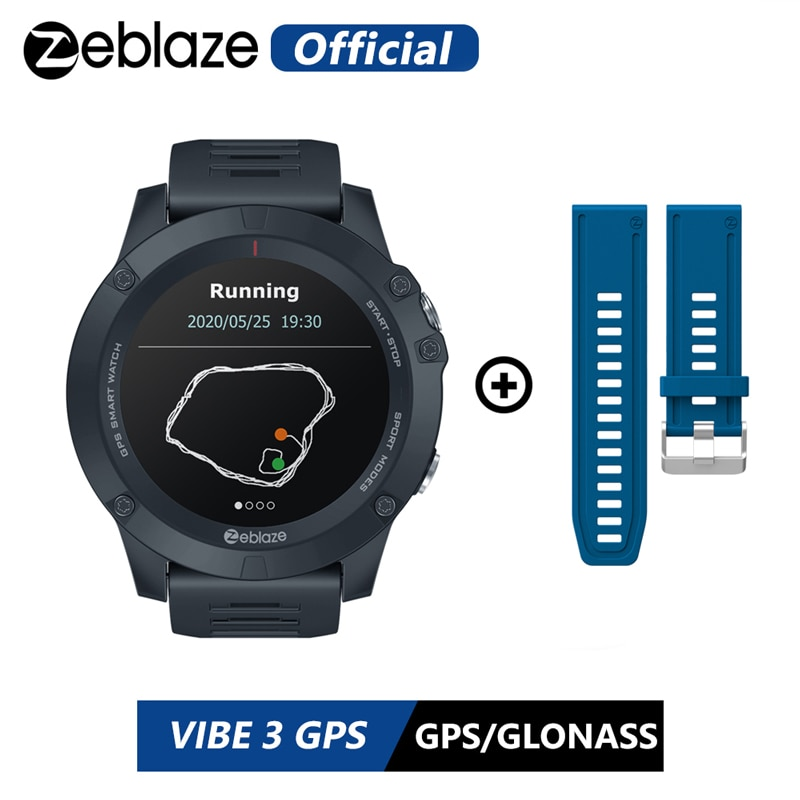 HOT 2020 Zeblaze Multi Sports Tracking VIBE 3 GPS Smart Watch Heart Rate Long Battery Life GPS Sport