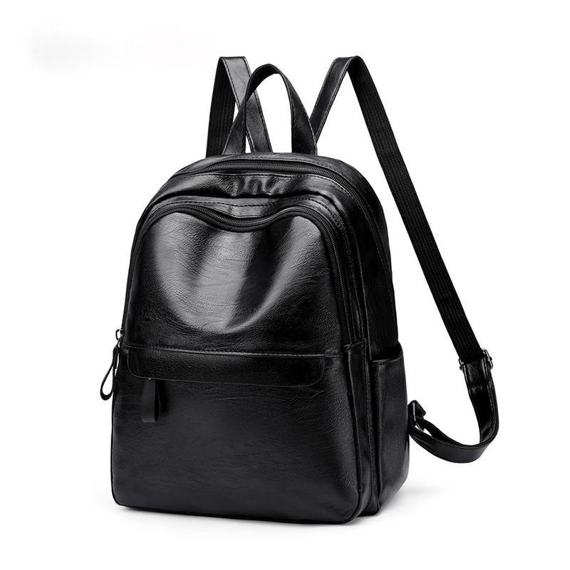 Новинка 2019, женские роскошные рюкзаки из искусственной кожи, женский простой рюкзак на молнии, вместительный рюкзаки для путешествий и отды...