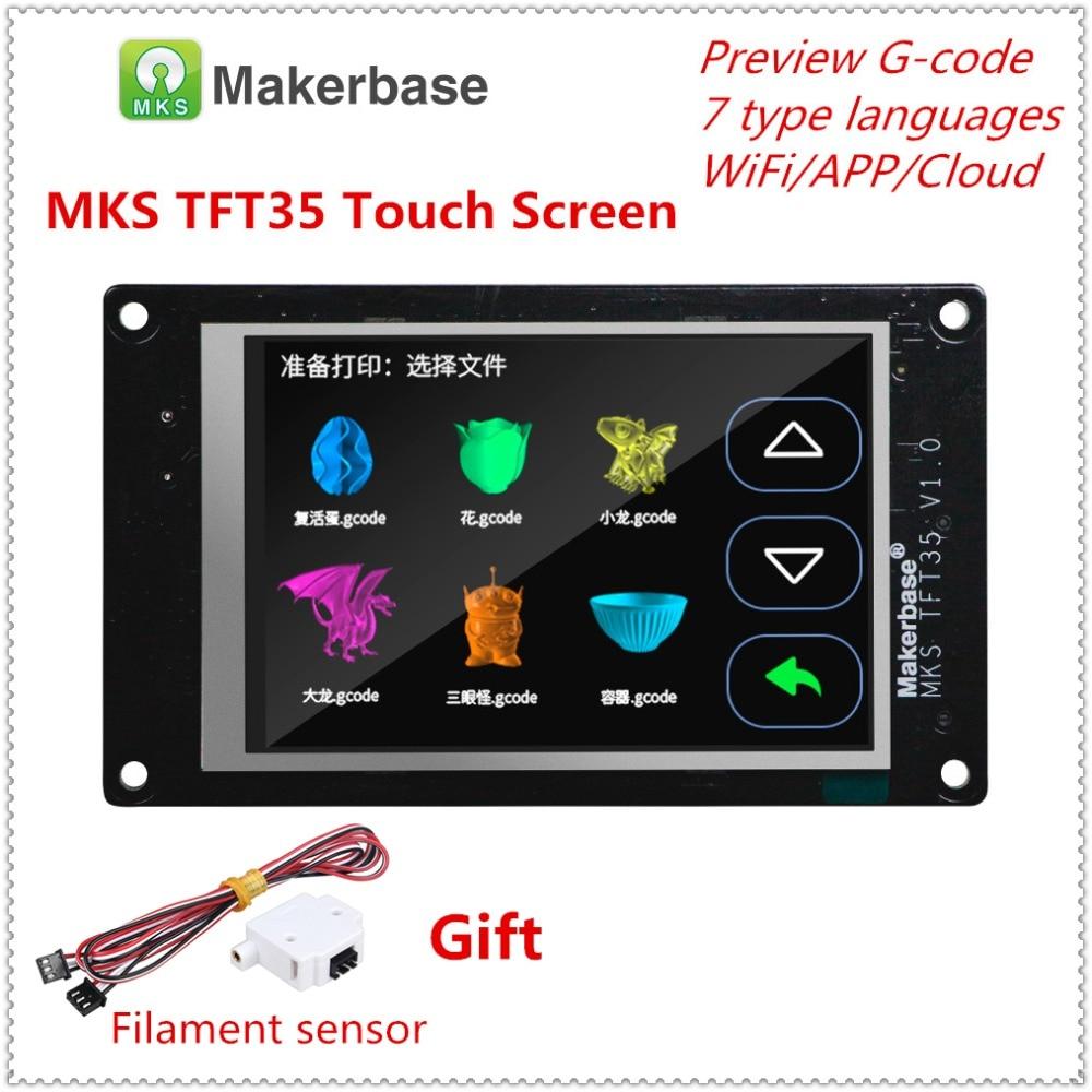 3d طابعة كامل اللون عرض ترقية الجمعية MKS TFT35 v1.0 اللمس شاشة 3.5 بوصة LCD وحدة TFT 35 لوحة 3.5 ''TFT مراقب