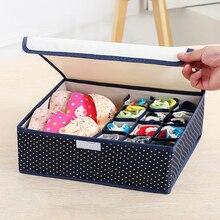 Chaussettes boîte de rangement lingerie ménage compartimenté boîte de rangement lingerie 7 grille soutien-gorge boîte de rangement pliable tiroir boîte de rangement