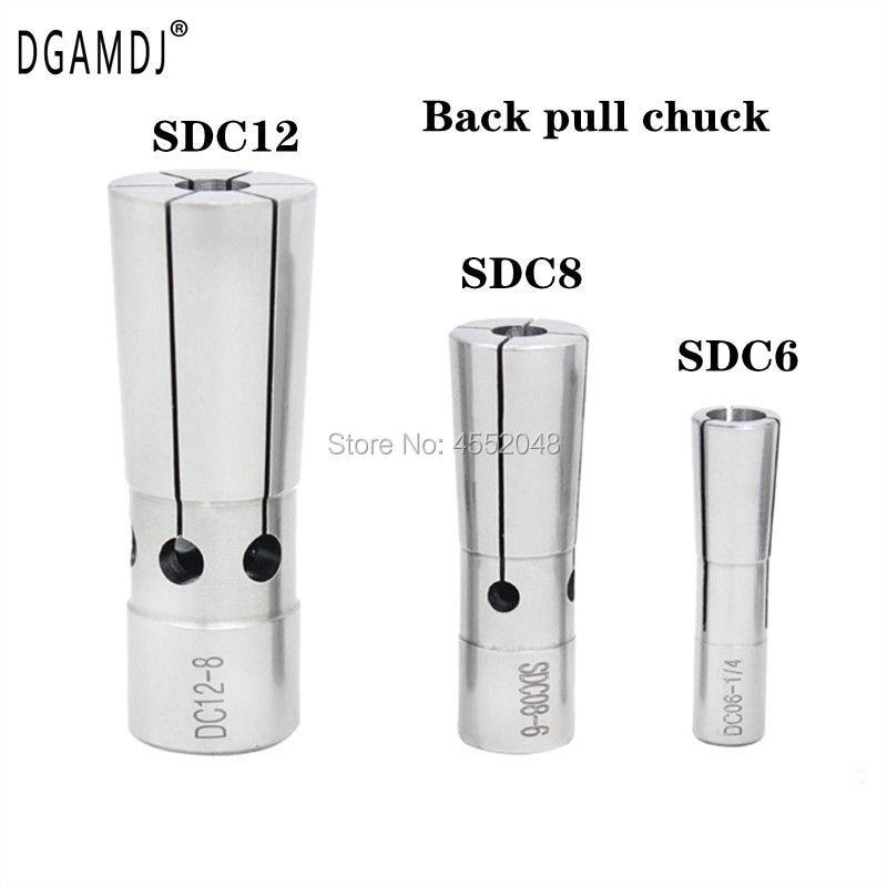 1 pces alta precision 0.003 dc6 dc8 dc12 aro fino sdc mola pequena pinça para pinça magro chuck e puxar para trás toolhlde