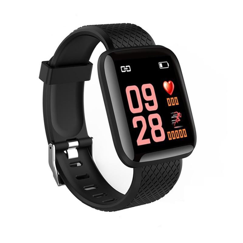 Monitor de Pressão Rastreador de Fitness Mais Pulseira Relógio Inteligente Banda Bluetooth Freqüência Cardíaca Arterial Silicone Pedômetros Esportes 116 D13