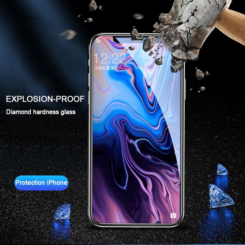 30D Full Cover Tempered Glass on For iphone 11 12 PRO MAX Screen Protector Protective Glass For iphone 11 12 X XR XS MAX Glass
