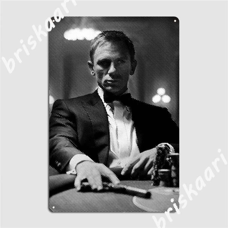 Daniel Craig James Bond Metal Sign Wall Wall Decor Cinema Garage Create Tin Sign Poster