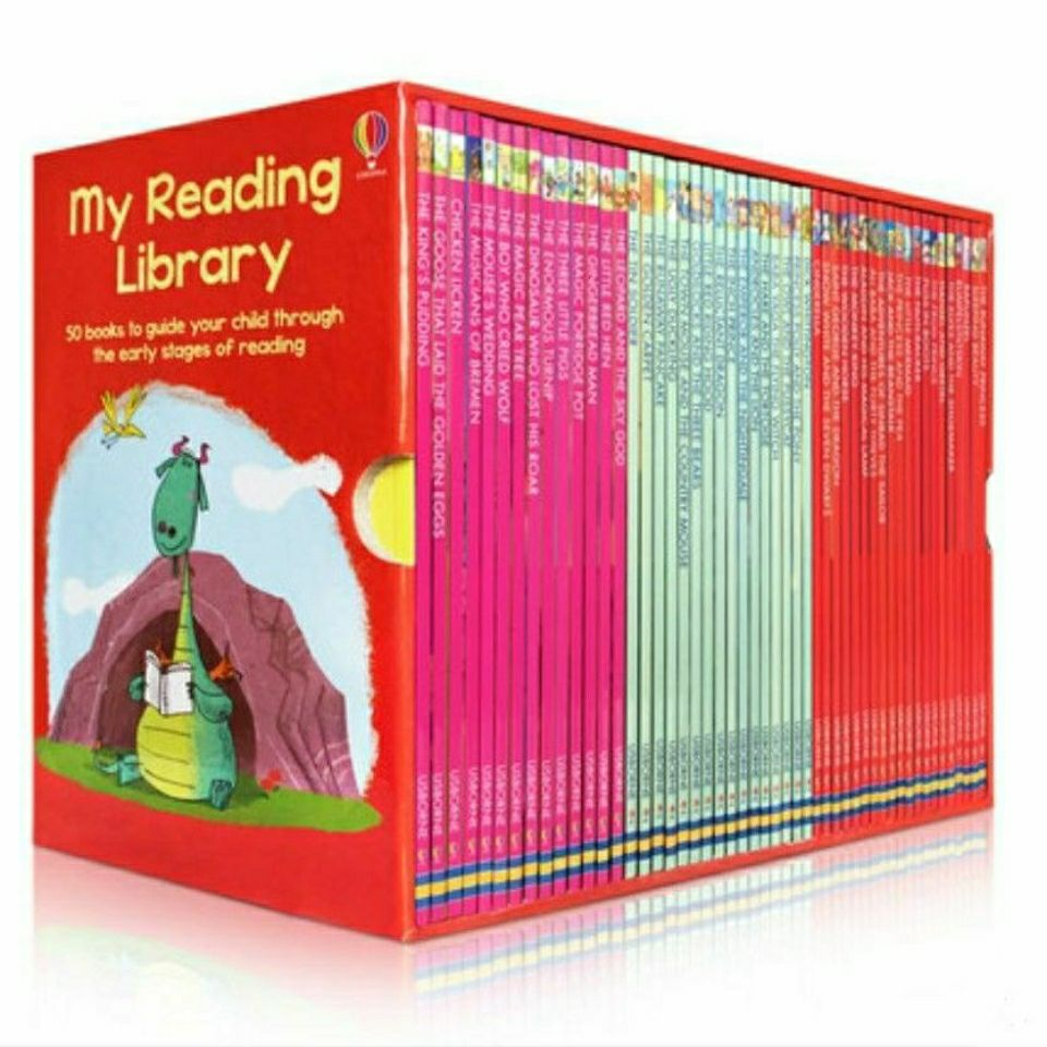 50 books/set Usborne My second Reading Library English Picture story Books kids words learning guide child read in early stages