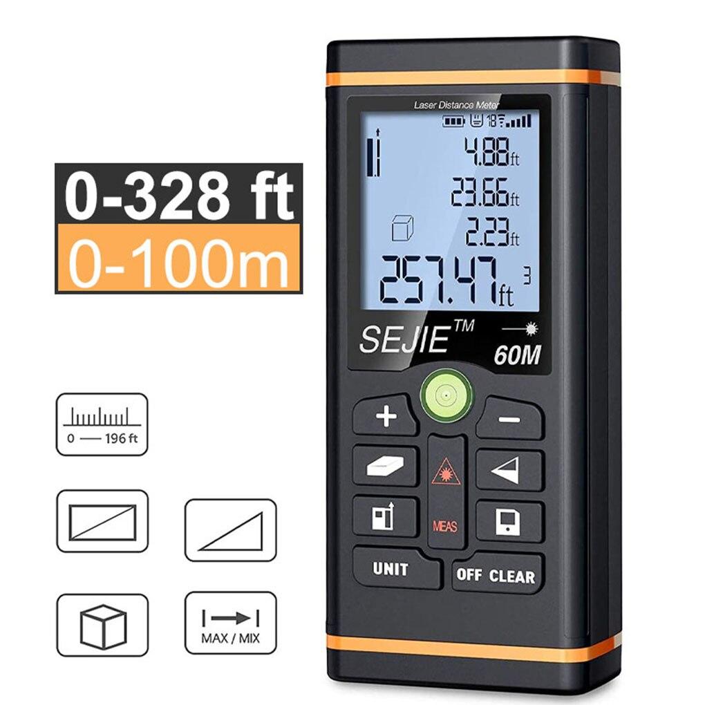 40 60 100m Laser Distance Measure Internal Bubble Levels Handheld Laser Rangefinder Unit conversion Ft M/In/Ft Laser Measure
