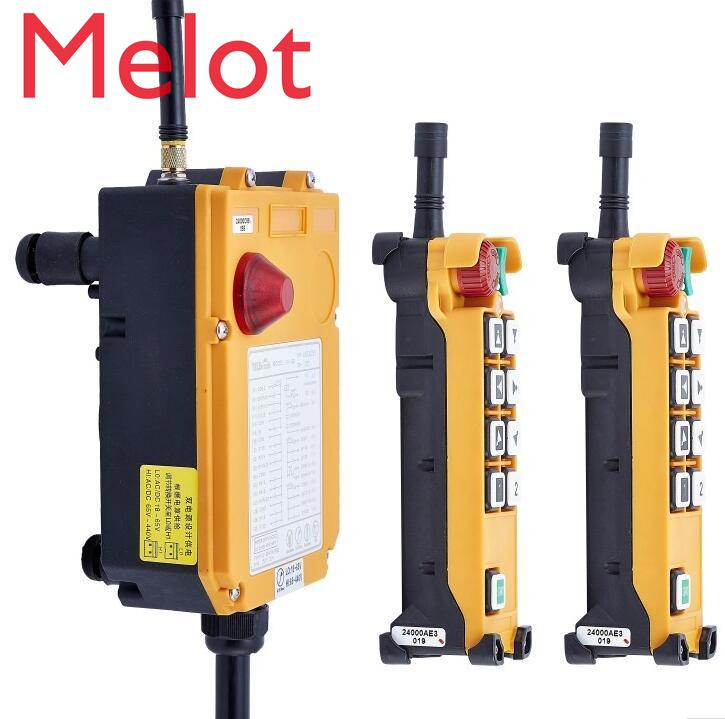 TELECRANE Wireless Double Speed Industrial Remote Controller Electric Hoist Remote Control 2 Transmitter + 1 Receiver F24-8D high quality f24 60 industrial joystick remote control crane wireless remote control