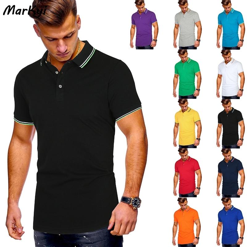 MarKyi Polo de manga corta Para Hombre 2020 verano Casual y negocios buena calidad rayas Polos camisas Para Hombre