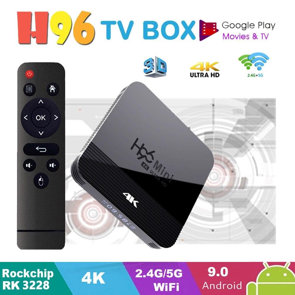 Android TV Box H96 Mini H8 TV Box Android 9.0 2GB 16GB RK3228 2.4G/5G Wifi BT4.0 4K Google Play Netflix Youtube Media Player H96