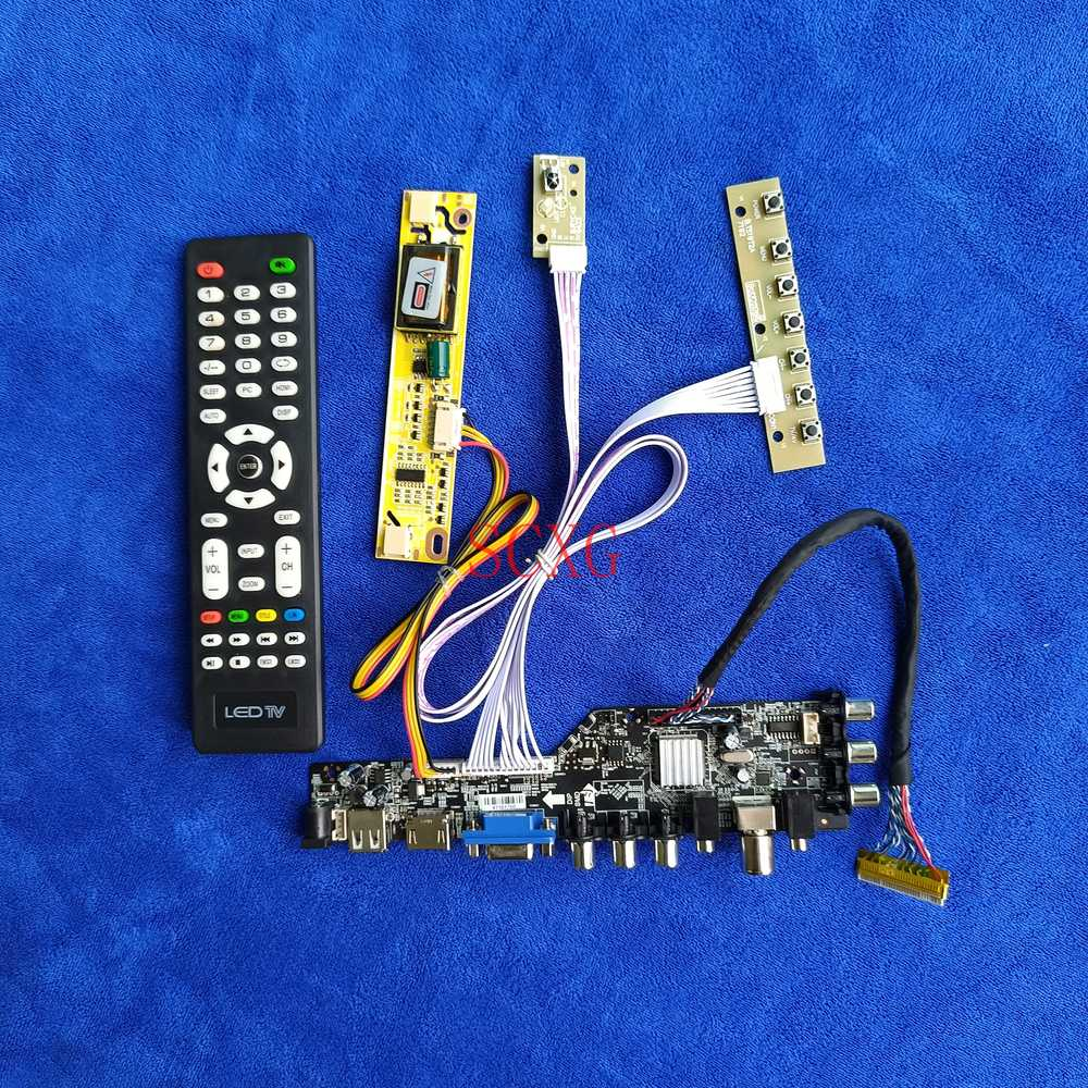DVB الرقمية 2CCFL HDMI-متوافق USB AV VGA LVDS-30Pin وحدة تحكم بشاشة إل سي دي المجلس 1280*800 صالح TX39D80VC1GAA/LQ154K1LA5E/QD15TL08 عدة