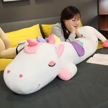 Haute qualité grand couché licorne jouets doux en peluche et jouets en peluche en peluche mignon licorne cheval poupée enfants poupée pour enfants cadeau