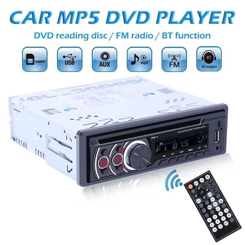 1 Din coche Radio Bluetooth coche de Audio estéreo MP3 reproductor de CD, reproductor de VCD DVD AUX USB FM Radio 1din Autoradio