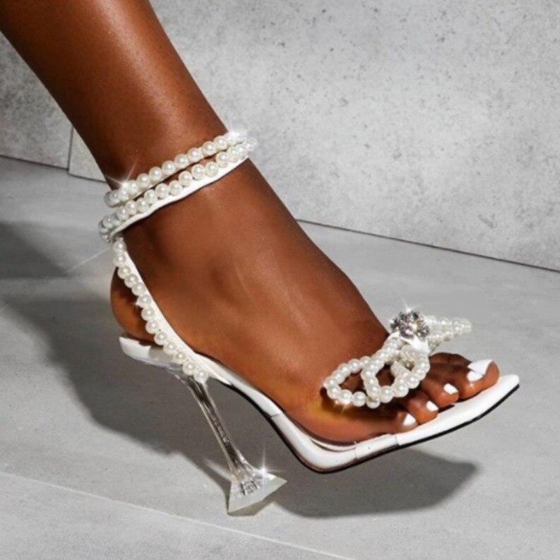 Sandalias De Gladiador Para mujer y Zapatos De Tacón Alto Con Cuentas...