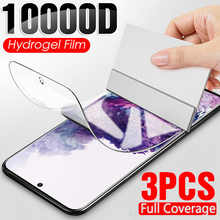 Гидрогелевая пленка для защиты экрана Samsung Galaxy S10 S9 S8 S20 Plus S10E S7 S6 Edge, защитная пленка для экрана Note 20 8 9 10 A50, 3 шт.