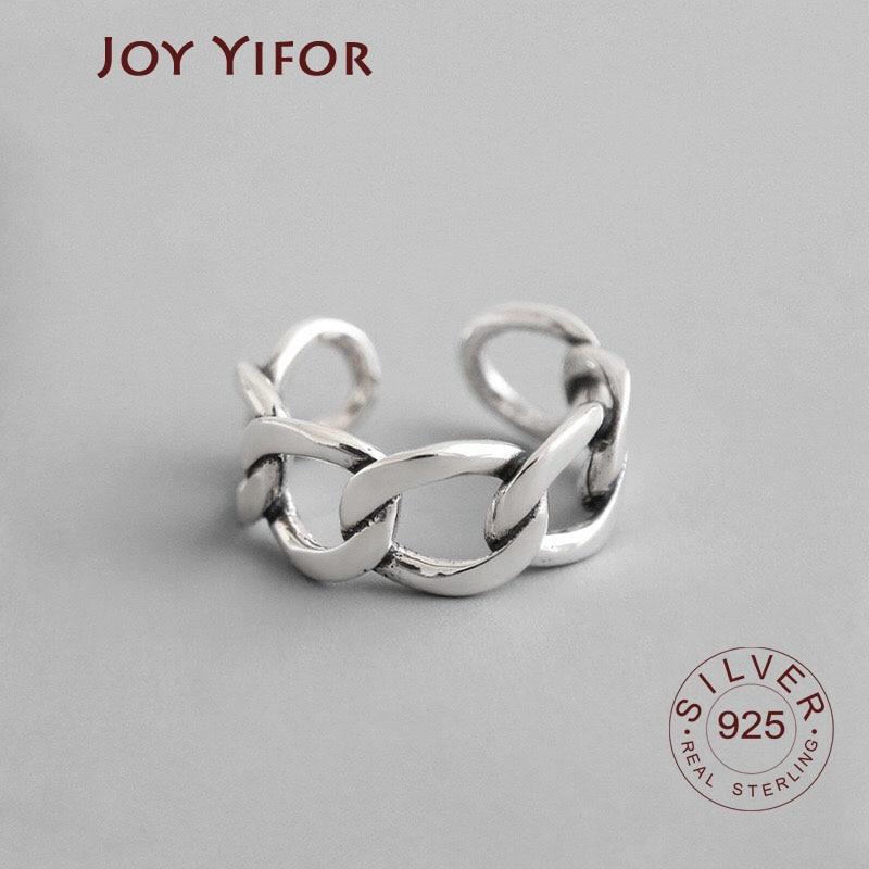 Регулируемое-серебряное-кольцо-большая-цепочка-с-замком-антикварное-старинное-кольцо-винтажные-серебряные-украшения-для-женщин
