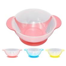 Disco de aprendizaje para bebé con ventosa, vajilla de seguridad para niños, tazón auxiliar con detección de temperatura, tazón de comida para niños