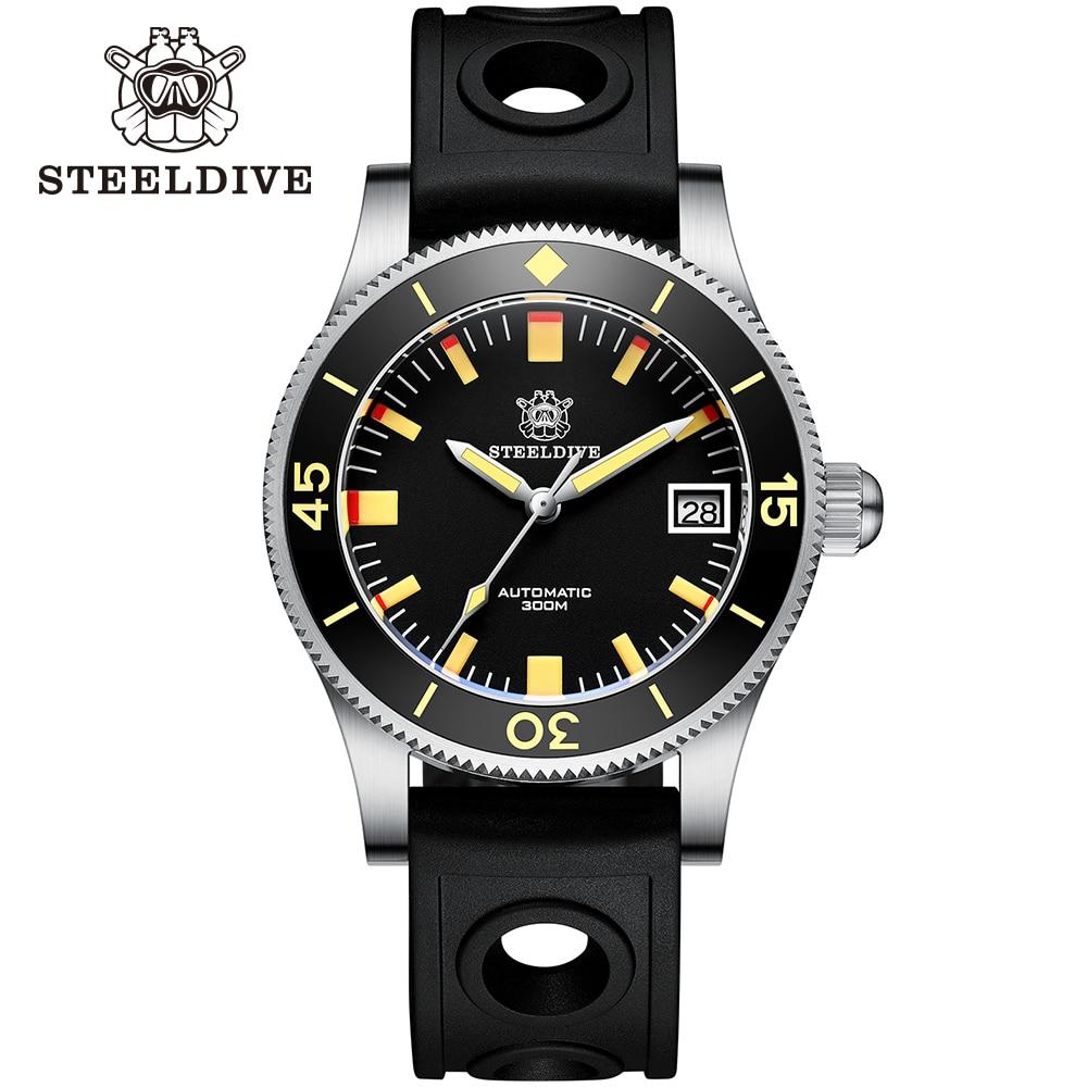 STEELDIVE SD1952T Barracuda 300m Waterproof 41mm Ceramic Bezel Sapphire Glass Green Luminous NH35 Men's Mechanical Dive Watch