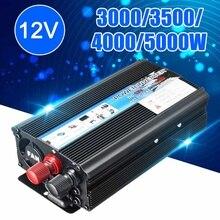 Convertisseur USB onde modifiée 5000W/4000W/3500W/3000 Watt cc   12V à ca, 220V, Portable, pour voiture
