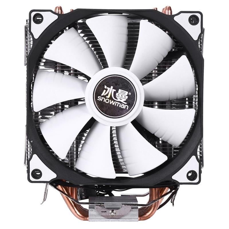 ثلج 4PIN وحدة المعالجة المركزية برودة 6 heatpipe مراوح مزدوجة التبريد 12 سنتيمتر مروحة LGA775 1151 115x1366 دعم إنتل AMD
