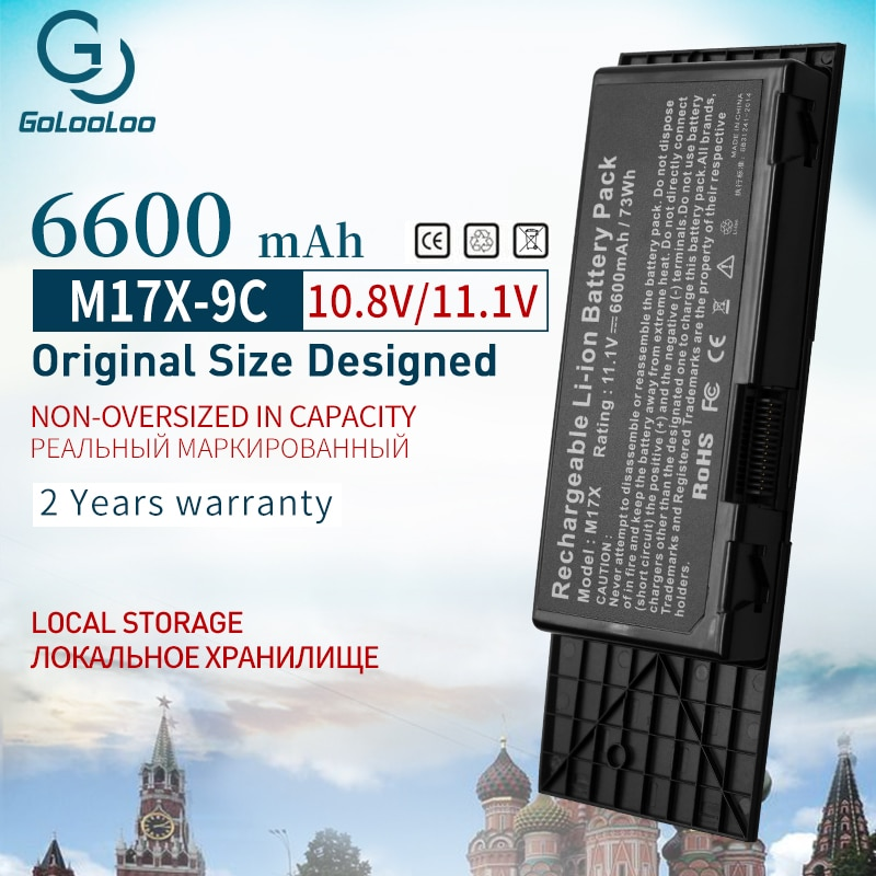 Gololoo 9 ячеек 7XC9N Аккумулятор для ноутбука Dell Alienware M17x M17x R3 M17x R4 серии 7XC9N BTYVOY1 c5m 0C0C5M 318-0397 05WP5W