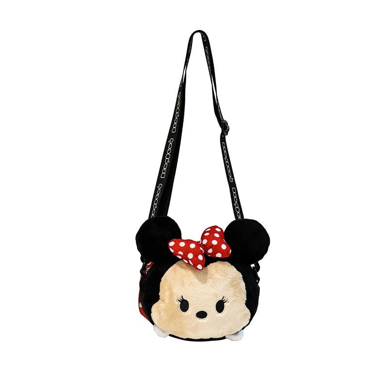 Disney plush Minnie Mouse neceser Portátil Bolsa de maquillaje multiusos almacenamiento monedero cartera con caricaturas bolso Mickey Mouse maquillaje nuevo