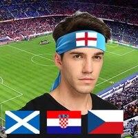 head tie headband hair band unisex dry sport tie back headband for euro 2021 czechrepublic croatia scotland england