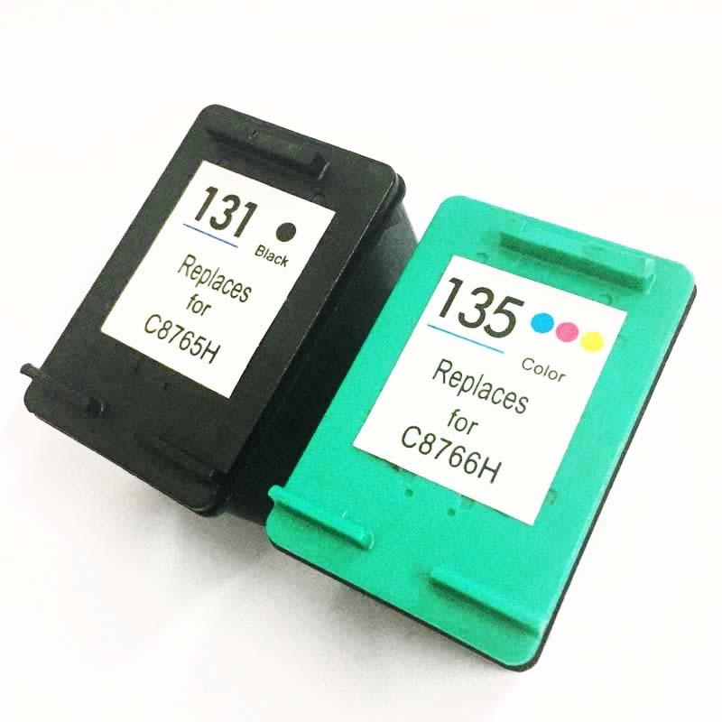 Vilaxh 131 Compatible 135 reemplazo de cartucho de tinta para HP 131 de 135 para Photosmart 2573 2613 Deskjet serie 460 de 5743 PSC 1600 impresora